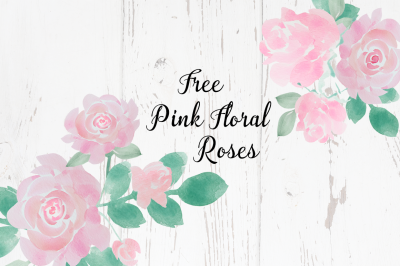 Free Pink Floral Rose Collection