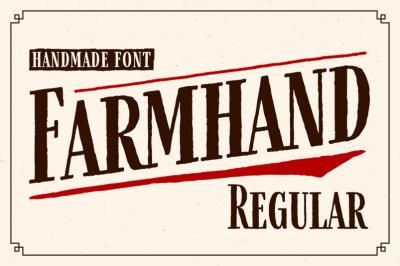 FREE FarmHand Regular: Handmade Font