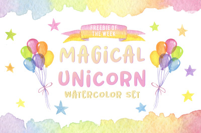 FREE Magical Unicorn Watercolor Set