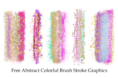 FREE Abstract Colorful Brush Stroke Graphics