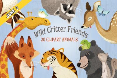 FREE Wild Animals Critter Friends Clipart