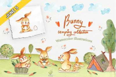 FREE Bunny Camping Collection