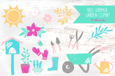 FREE Summer Garden Clipart