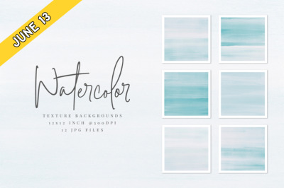 FREE Light Blue Watercolor Texture Backgrounds