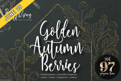 FREE Golden Autumn Berries