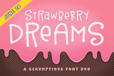 FREE Strawberry Dreams Font Duo