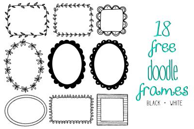 FREE Doodle Frame Set