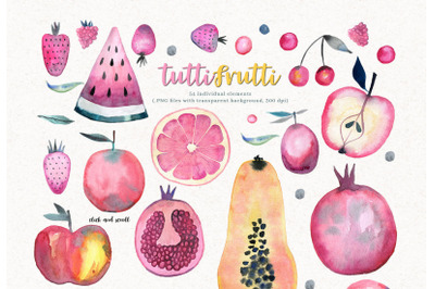 FREE Tutti Frutti Watercolor Set