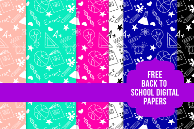 FREE Back to School Digital Papers