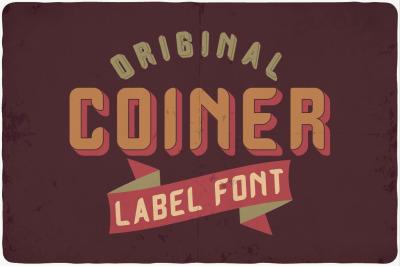 FREE Coiner Label Font