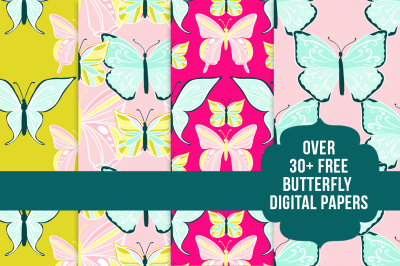FREE 30+ Butterfly Digital Papers
