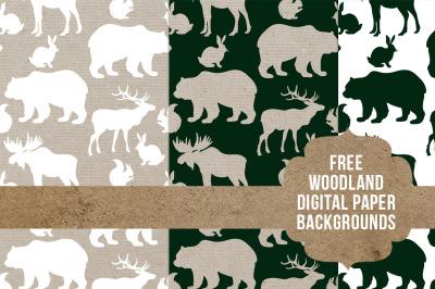 FREE Woodland Digital Paper Backgrounds