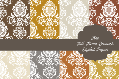 FREE Fall Theme Danask Digital Paper