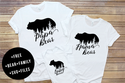 FREE Bear Family SVG Cut Files
