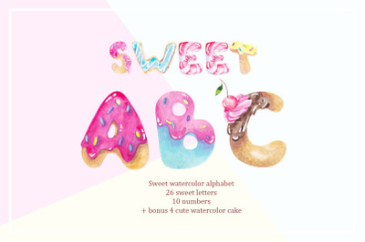 FREE Sweet ABC: Watercolor Alphabet