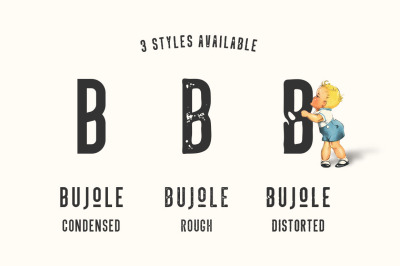 FREE Bujole - A 3 Style Vintage Font