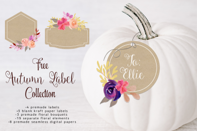 FREE Autumn Clipart Pack: Autumn Label Collection
