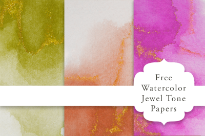 FREE Watercolor Jewel Tone Papers