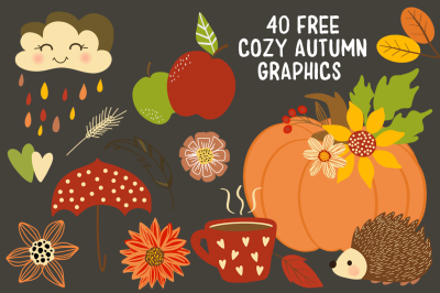 FREE 40 Cozy Autumn Graphics