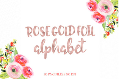 FREE Rose Gold Foil Alphabet
