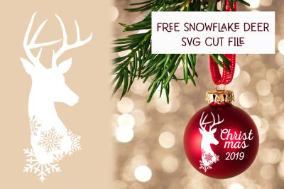 FREE Christmas SVG: Snowflake Deer