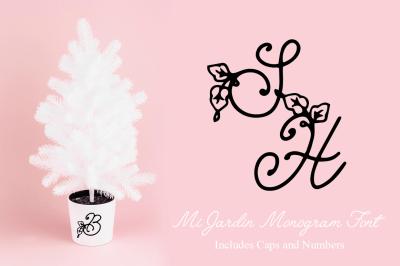 FREE Mi Jardin Monogram Font