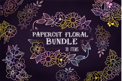 FREE Papercut Floral Bundle