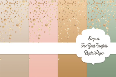 FREE Gold Confetti Digital Paper