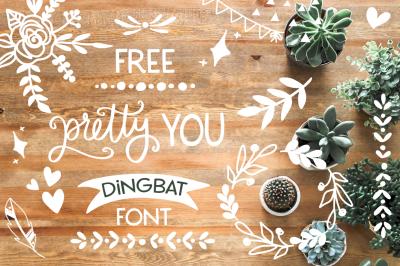 FREE Font: Pretty You Dingbat Font