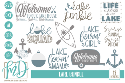 FREE Lake SVG Bundle