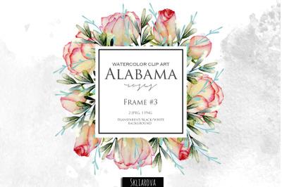 FREE Alabama Roses Frame 3