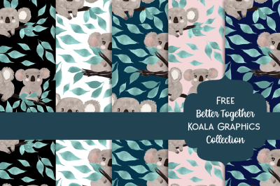 FREE Better Together Koala Graphics Collection