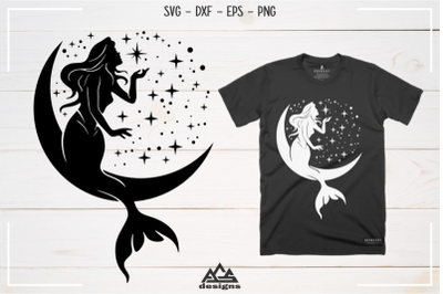 FREE Mermaid and Moon Cut Files
