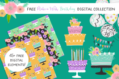 FREE Make a Wish Birthday Digital Collection
