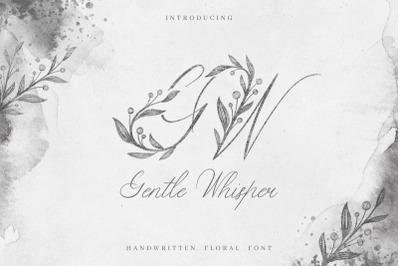 FREE Gentle Whisper Floral Font