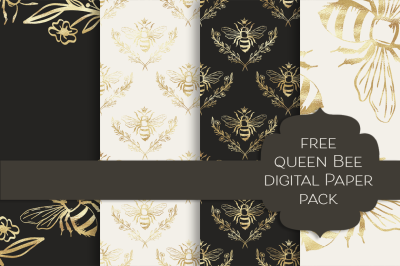 FREE Queen Bee Paper Collection