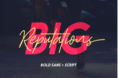 FREE Big Reputation Font Duo