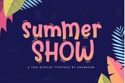 FREE Summer Show Font
