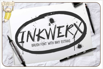 FREE InkWerx Font & Extras