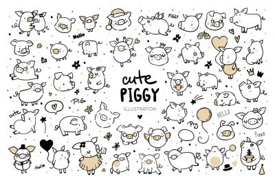 FREE Cute funny pigs
