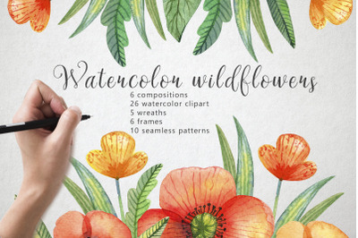 FREE Watercolor Wildflowers