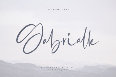 FREE Gabrialle - Casual Script Font