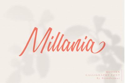 FREE Millania || Modern Script Font