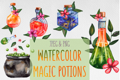 FREE Watercolor Magic Potions Collection