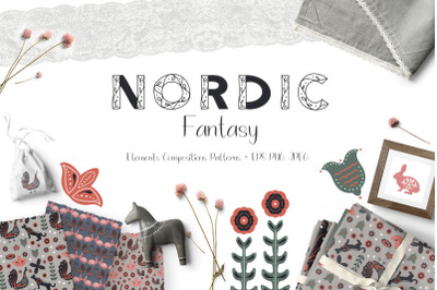 FREE Nordic Fantasy - Folk Art Collection