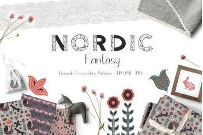 FREE Nordic Fantasy - Folk Art Collection