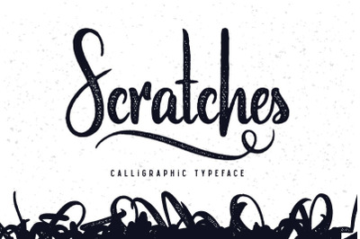 FREE Scratches Calligraphic Font