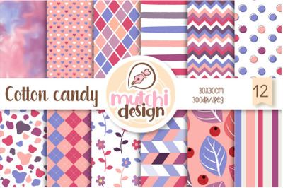 FREE Cotton Candy Digital Papers