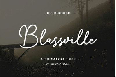 FREE Blassville Handwritten Font