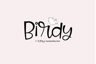 FREE Birdy - A Quirky Handwritten Font